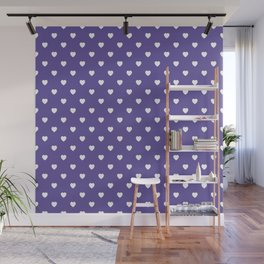 Ultra Violet Hearts Pattern Wall Mural