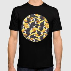 Toucans [yellow] Black Mens Fitted Tee MEDIUM