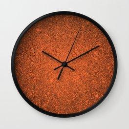 Amber Orange Sparkling Jewels Pattern Wall Clock