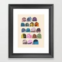 EIGHTEEN GRAVES Framed Art Print
