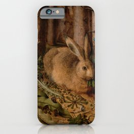 A Hare In The Forest Hans Hoffmann iPhone Case