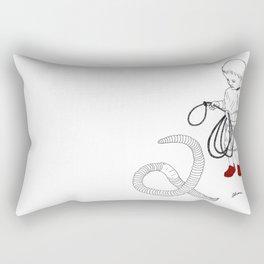Worm Wrangler Rectangular Pillow