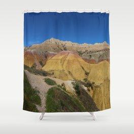 Colorful Badlands Landscape Shower Curtain