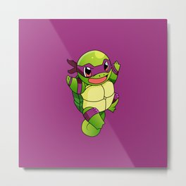 TMNT_POKET_MONSTER_purple Metal Print