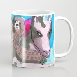 kawaii squad pug sloth unicorn Coffee Mug