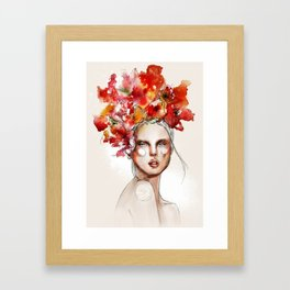 Girl with the #flowers by Anya Dee Framed Art Print