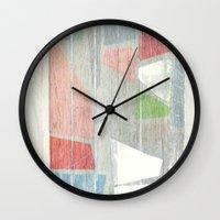 titan Wall Clocks featuring Titan - Cryo by Fernando Vieira