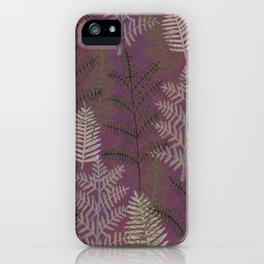 Ferns Purple iPhone Case
