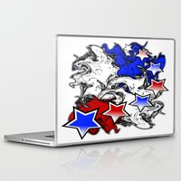 american Laptop & iPad Skins featuring AMERICAN  by Robleedesigns