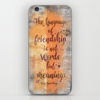friendship iPhone & iPod Skins featuring Friendship by LebensART