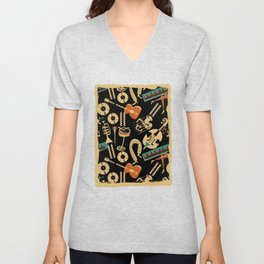 Jazz Rhythm (negative) Unisex V-Neck