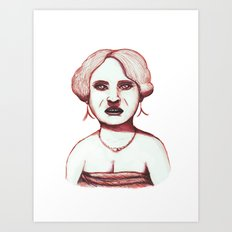 Middle Aged Woman at Party Art Print