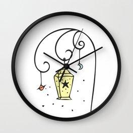 Hand Drawn Illustrations Fantasy Lamp Lantern Gift Wall Clock
