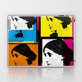 VIRGINIA WOOLF (FUNKY COLOURED COLLAGE) Laptop & iPad Skin