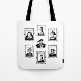Henry VIII and his wives Tote Bag