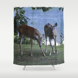 Grazing Deer Shower Curtain