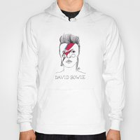bowie Hoodies featuring Bowie by ☿ cactei ☿