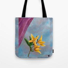 Victorian Forsythia Tote Bag
