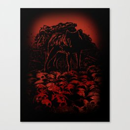 WOLFTHRONE Canvas Print