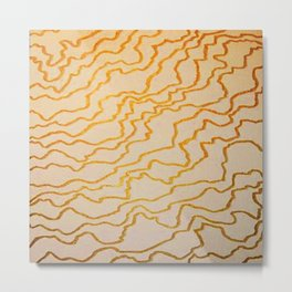 Golden Lines Show The Way Metal Print