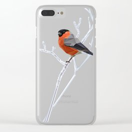 Safe transitions! // (polygonal bull-finch) Clear iPhone Case