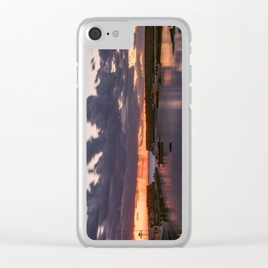 Rainy Lanescove Sunset Clear iPhone Case