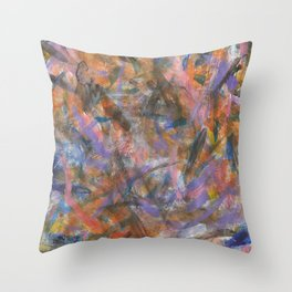 Dark Moods Brushstroke Abstract Throw Pillow