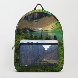Image USA Glacier National Park Nature Spruce Mountains Lake Parks landscape photography Grass mountain park Scenery Backpack