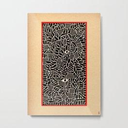 - in the summer garden : contemplation - Metal Print