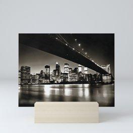 New York City at Night Mini Art Print