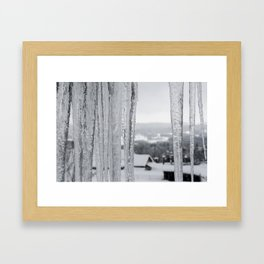 Snow Landscape Through Ice Framed Art Print