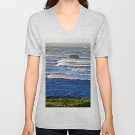 Wind Blown Breakers Unisex V-Neck