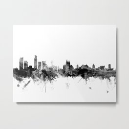 Liverpool England Skyline Metal Print