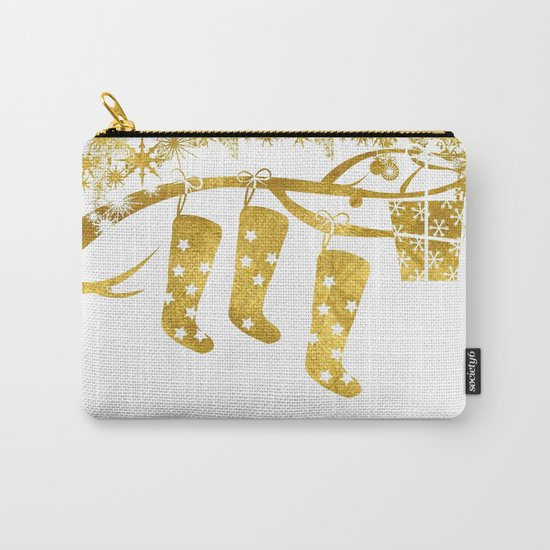 Gold Christmas 02 Carry-All Pouch