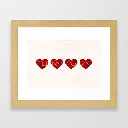 Love Synth Framed Art Print