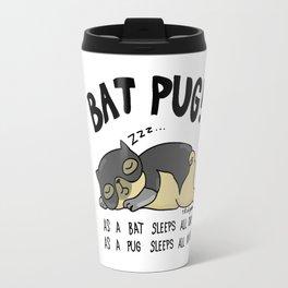 Bat Pug! Travel Mug