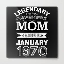 Mom January 1970 50th Birthday Gift Metal Print