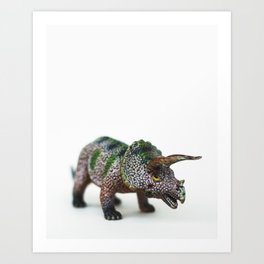 Fine Art Dinosaur Print: Triceratops Art Print