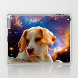 beagle puppy on the wall looking at the universe Laptop & iPad Skin