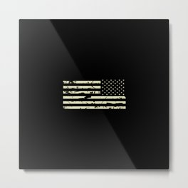 Distressed Tactical U.S. Flag Metal Print