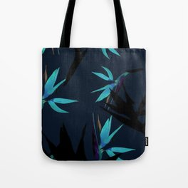 Fall print in navy and bright blue (also available in forest green and mustard) Tote Bag
