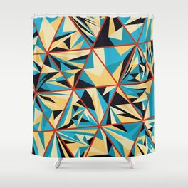 Geometric Colorful Triangles Art Pattern Shower Curtain