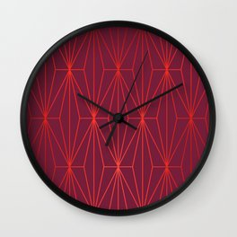 ELEGANT BEED RED TANGERINE  PATTERN Wall Clock