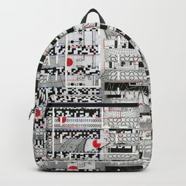 Opportunistic Species (P/D3 Glitch Collage Studies) Backpack