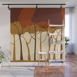 Sepia forest Wall Mural