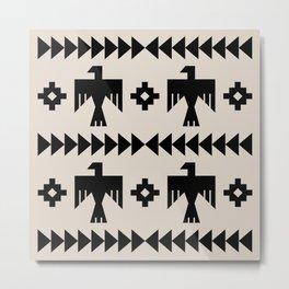 Southwestern Eagle and Arrow Pattern 123 Metal Print