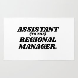 assistant to the regional manager Rug