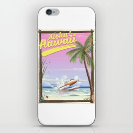 Aloha! Hawaii vintage travel poster. iPhone Skin