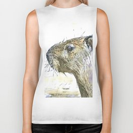 fascinating altered animals - Capybara Biker Tank