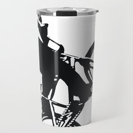 bicyclist silhouette Travel Mug